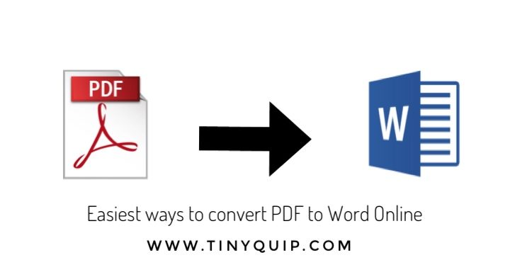 Easiest Ways To Convert PDF To Word Online
