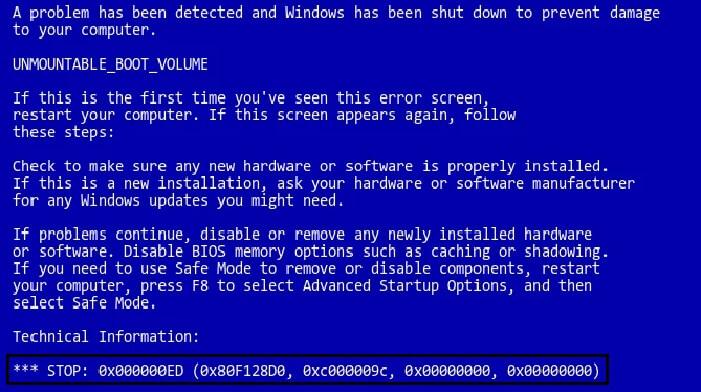 fix blue screen of death