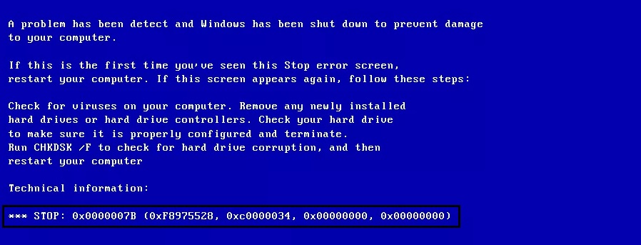 how to fix blue screen of death