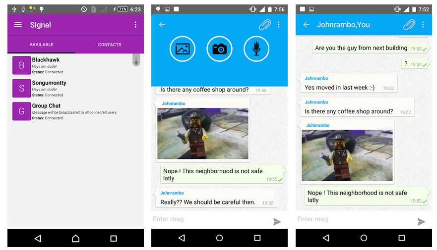 private messaging app for android users