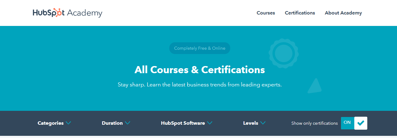 free online courses certificate