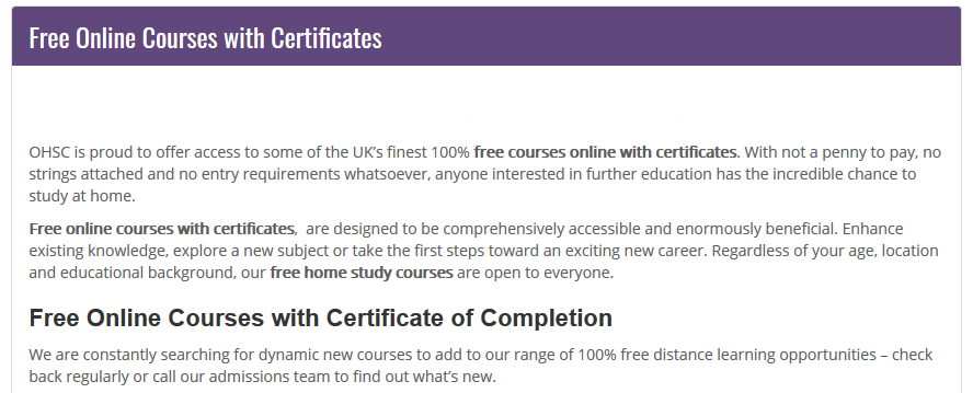 free online courses with certification
