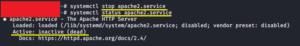 stop ubuntu apache