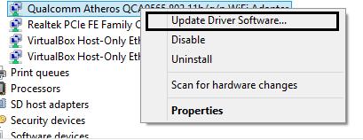 wifi driver update
