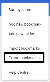 export bookmarks from chrome