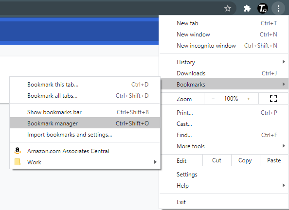 bookmarks in google chrome