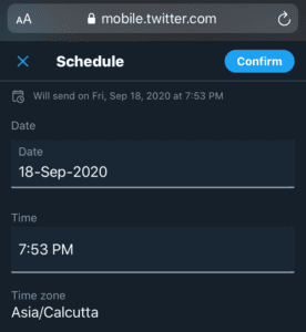 schedule tweets on twitter using iPhone