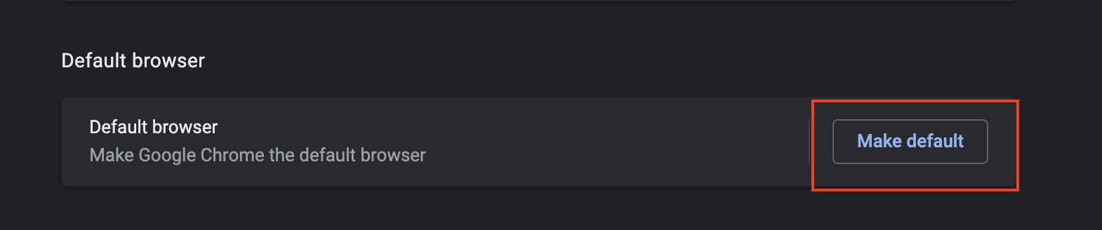 default chrome browser