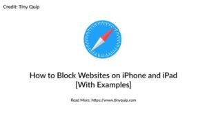 block website on iphone