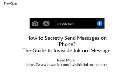 Secret Trick Send Messages using Invisible Ink on iPhone - Tiny Quip