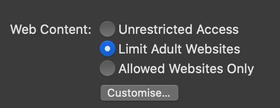 parental control on mac