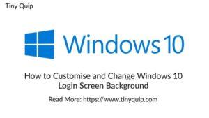 login screen windows 10