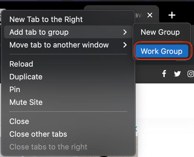 add chrome tab group