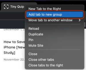 add new tab to chrome tab group