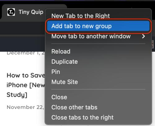 add new tab to chrome tab group