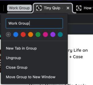 name chrome tab group
