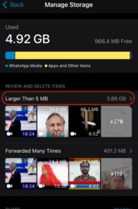 delete whatsapp media