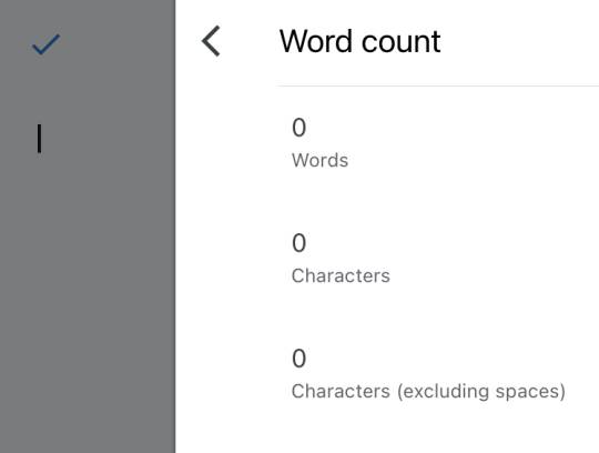 view word count on google docs iphone